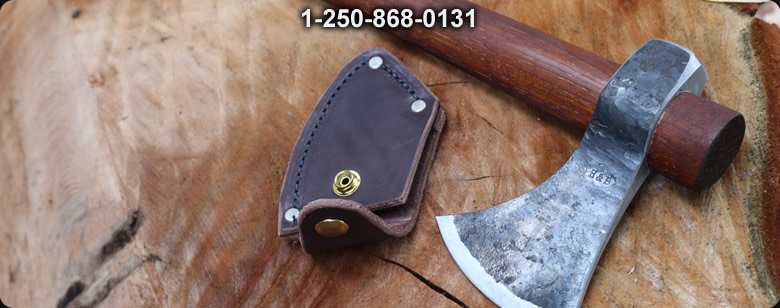 H and B Forge 17in Camp Hawk with Camp Sheath - Bushcraft Canada