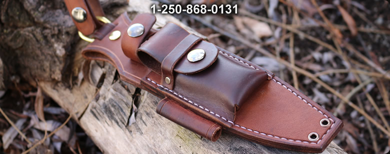 Black leather case Medium - Bushcraft Canada