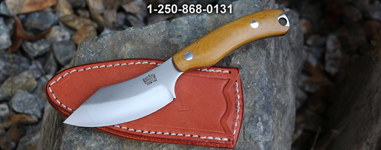 Barkriver JX6 CPM 154 Black Ash Burl with red liner (3) - Bushcraft Canada