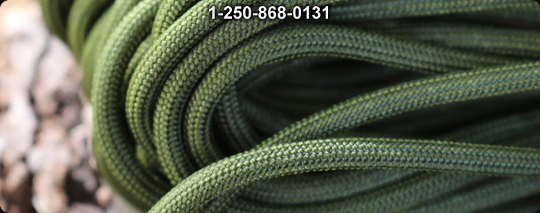 Paracord Commercial 550 Woodland camo 100 ft - Bushcraft Canada