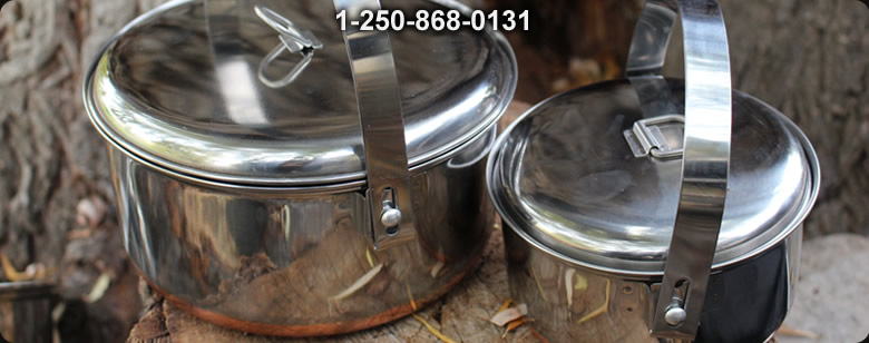 Titanium 1600ML Bail Arm Pot - Bushcraft Canada
