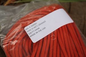 MIL SPEC Paracord INT Orange 100FT