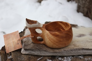 Finnish Lappland Kuksa Delux Double hole Handle