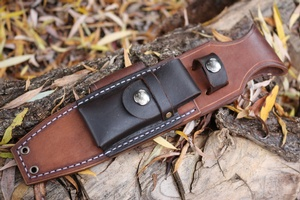 Canadian Bushcraft Leather Custom 'Two Tone' A1 sheath