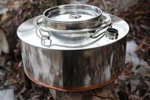 Norwegian Big Mountain Kettle Stainless Steel 4L