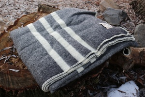 Canadian 100% Virgin Wool Blanket Black