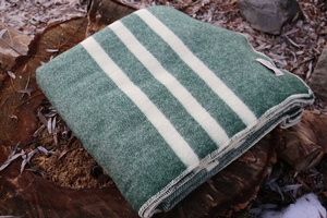 Canadian 100% Virgin Wool Blanket Green
