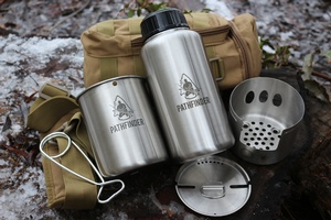 Pathfinder Stainless Steel Bottle and Cookset