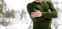 Woolpower Zip Turtleneck 200 Green