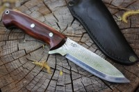 Damascus Bushcraft knife CPMS90V