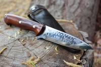 Damascus Bushcraft knife CPM4V