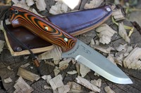 Cosmo Bushcraft knife 4V Orange/Black G10