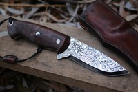 Cosmo Bushcraft Damascus Starburst 120 layer No1