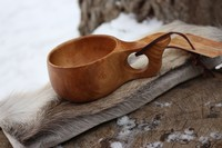 Finnish Lappland Kuksa Single hole Handle Photo