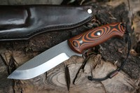 Cosmo 4.5in Bushcraft Mill Finish Tigerstripe G10 S35VN