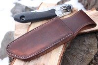 Canadian Bushcraft Leather Custom Silky 170 sheath