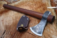 H and B Forge Camp Hawk With Leather Edge Cover