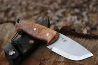 Cosmo 4in S35VN Maple Burl Skinner Outdoor Knife