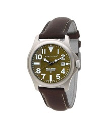Atlas 38 Ti Outdoor Watch Green Face Photo