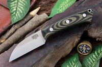 Barkriver Knives A2 TUSK Black and Green Linen Photo