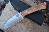 Barkriver Knives A2 TUSK Walnut with Black liners Brass Pins