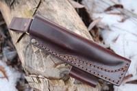 A Scandi style Bushcraft leather sheath Photo