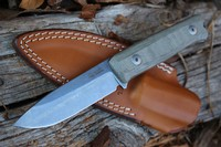 Lionsteel B40 Bushcraft Knife Green Canvas Micarta Photo