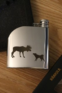 Harkila Moose and Dog Hipflask Photo