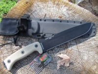 ESEE Knives Junglas Survival knife, Kydex sheath and Cordura backing Photo